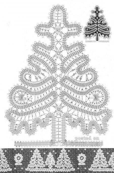 елка выполненная крючком в