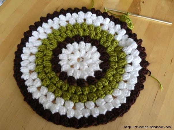 Вязание сидушки и пуфика
