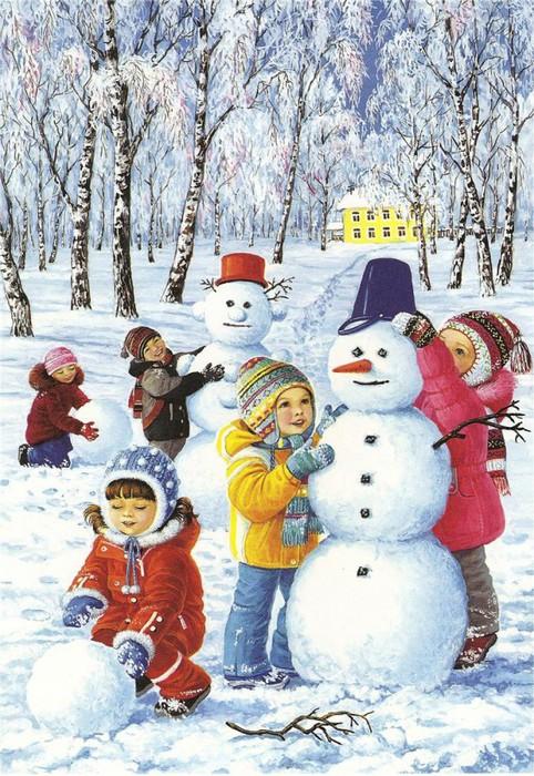 зима дети (482x700, 151Kb)