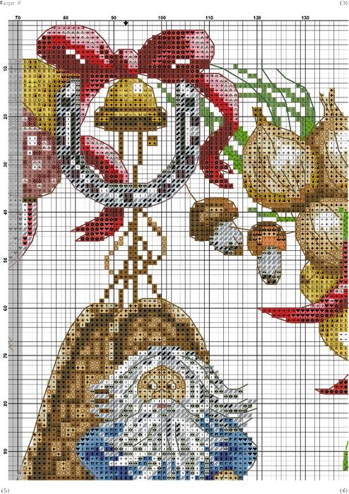 Схема вышивки венок изобилия 90