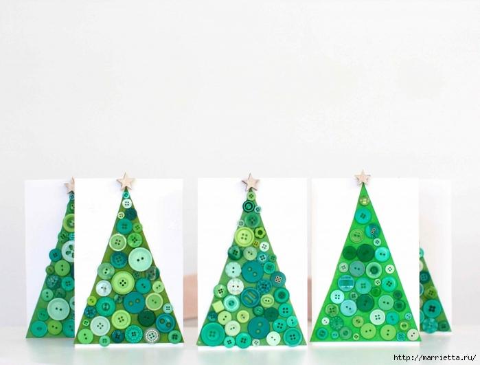 пуговицы для создания новогодних открыток и украшений (35) (700x531, 182Kb)