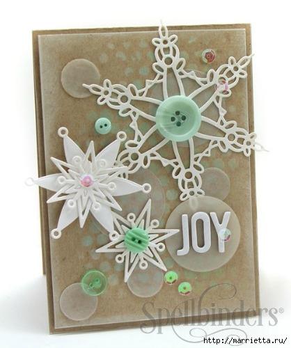 пуговицы для создания новогодних открыток и украшений (66) (418x500, 119Kb)