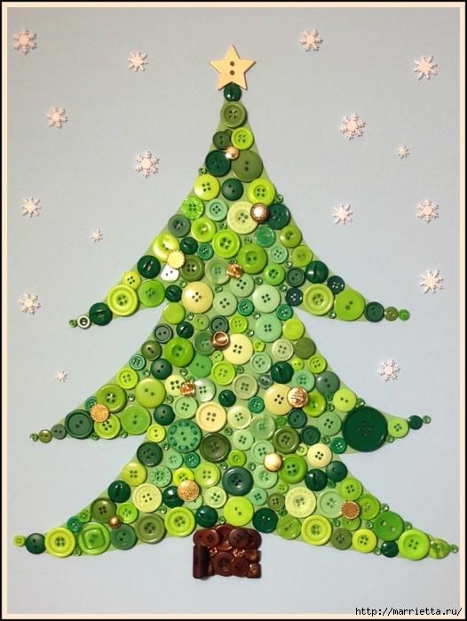 пуговицы для создания новогодних открыток и украшений (72) (526x700, 280Kb)