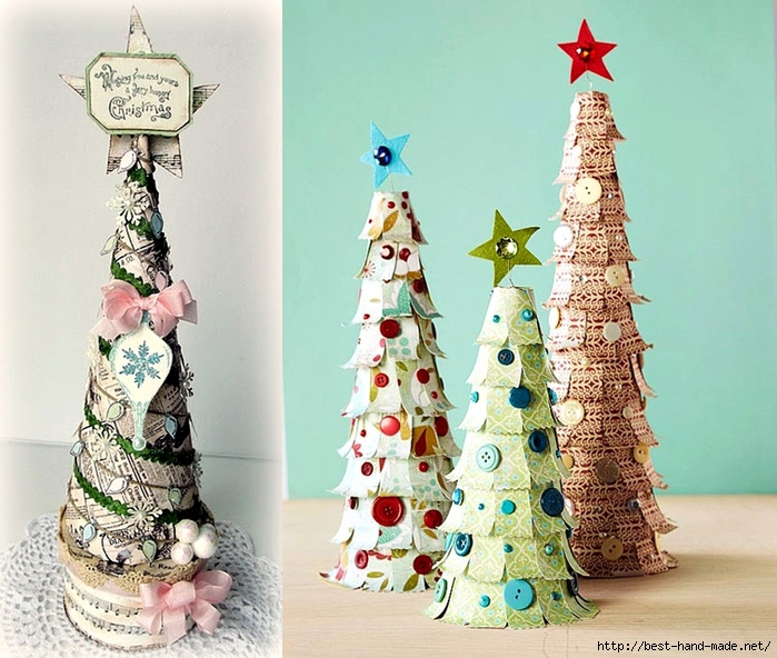 christmas tree decorations - Scrapbook paper Christmas Trees (700x592, 309Kb)