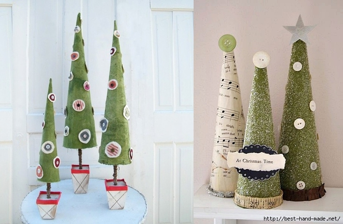 Christmas tree stands -  Paper Christmas Trees, Vintage Christmas Trees (700x457, 208Kb)