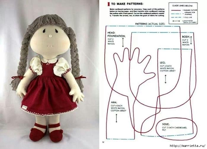 Выкройки текстильная кукла своими руками