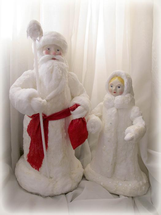 Новогодние поделки своими руками из ткани и ваты