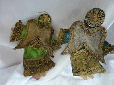 2-Vintage Dresden Cardboard Pressed Paper Tin Foil Christmas Onaments 2 (400x300, 128Kb)