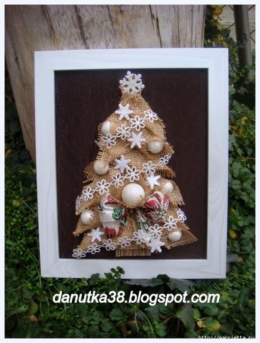 Новогодние елки и подсвечник из мешковины (11) (530x700, 293Kb)