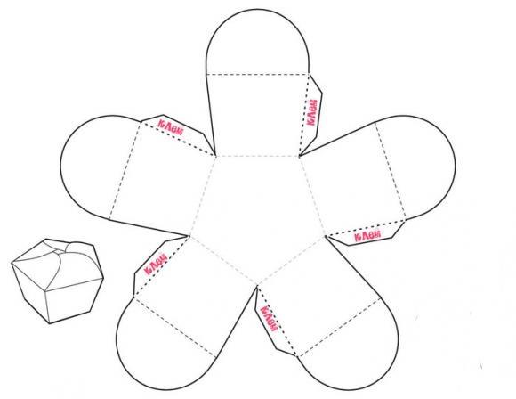 коробочки для подарков шаблон 10 (580x448, 44Kb)