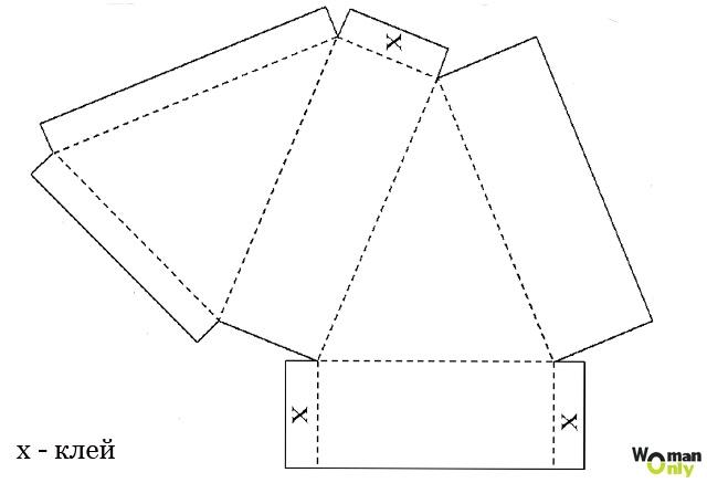 коробочки для подарков шаблон 23 (640x437, 69Kb)