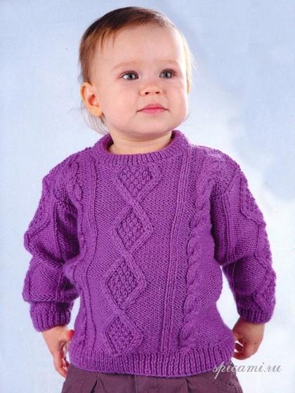 схема вязания свитера спицами