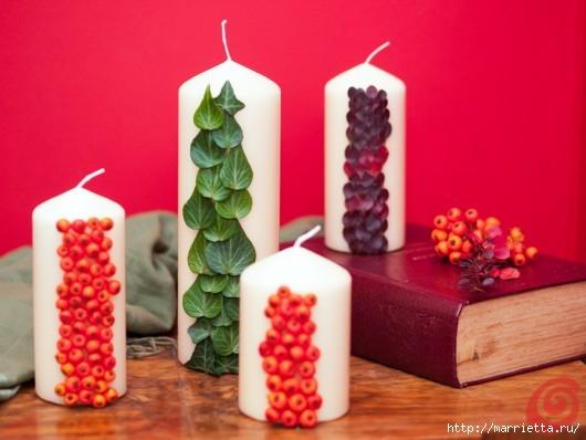 Декорируем свечи осенними дарами природы (2) (530x398, 111Kb)
