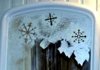 Украсить стекло к новому году своими руками фото - Rack19.ru