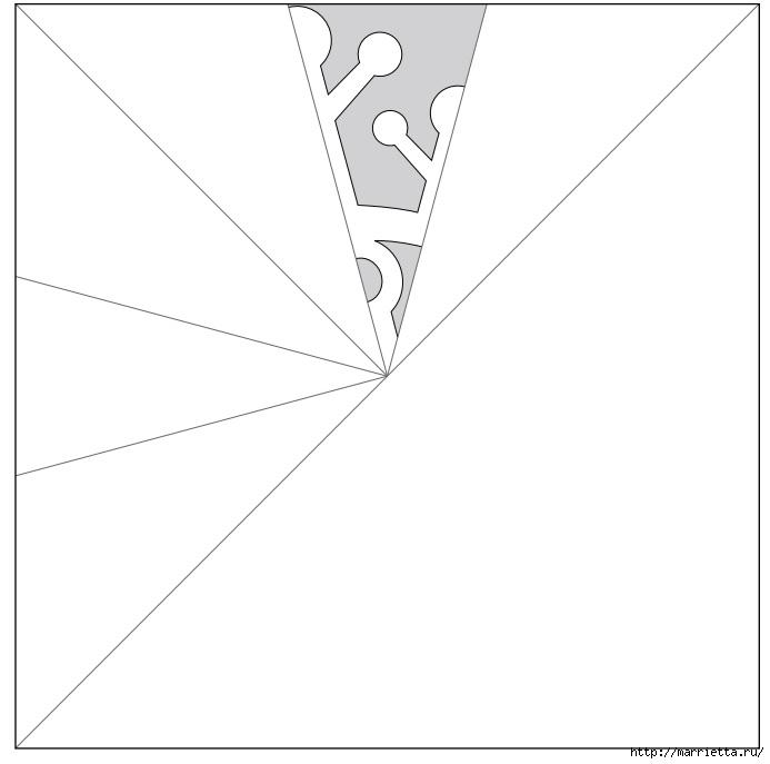 шаблоны снежинок из бумаги (1) (693x687, 54Kb)