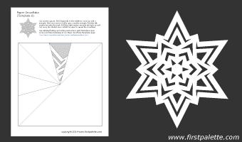 шаблоны снежинок из бумаги (8) (340x200, 5Kb)