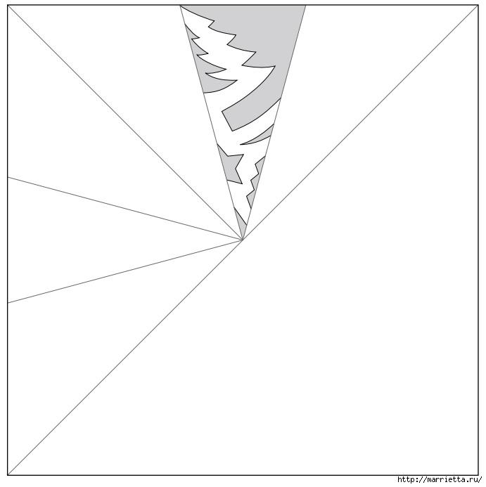 шаблоны снежинок из бумаги (11) (691x693, 58Kb)