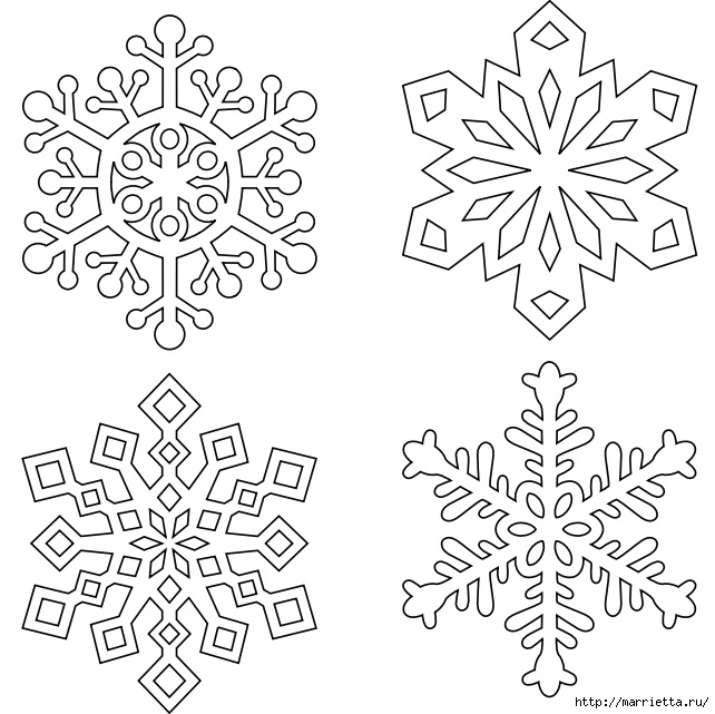 шаблоны снежинок из бумаги (12) (642x641, 211Kb)