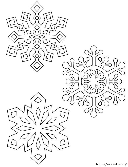 шаблоны снежинок из бумаги (16) (505x655, 150Kb)