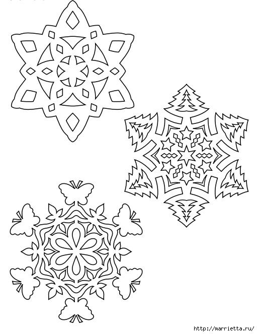 шаблоны снежинок из бумаги (18) (511x663, 156Kb)