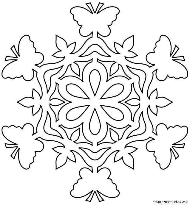 шаблоны снежинок из бумаги (20) (637x689, 174Kb)