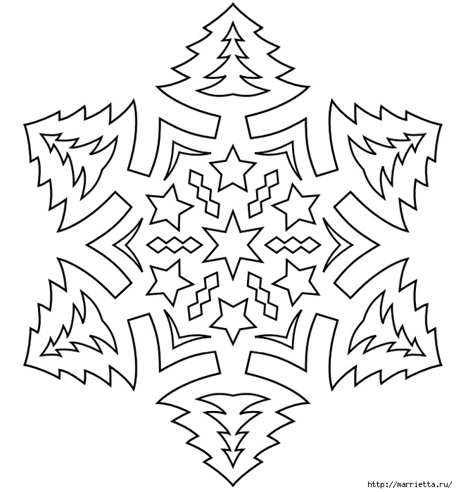 шаблоны снежинок из бумаги (22) (648x700, 193Kb)