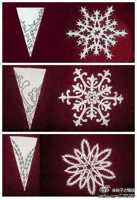 шаблоны снежинок из бумаги (23) (440x641, 140Kb)
