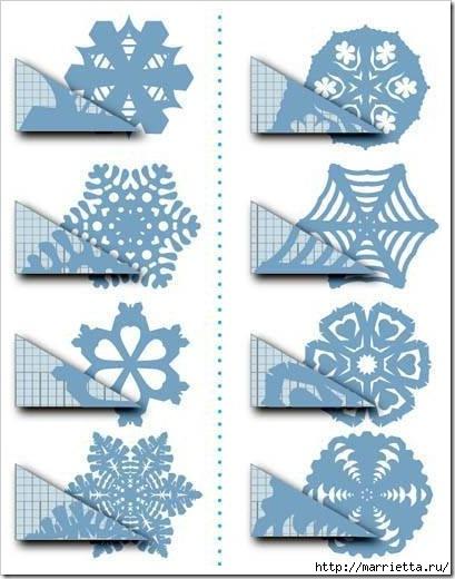 шаблоны снежинок из бумаги (29) (409x520, 120Kb)
