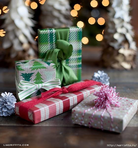 Шаблоны бумаги для упаковки новогодних подарков (2) (560x598, 246Kb)