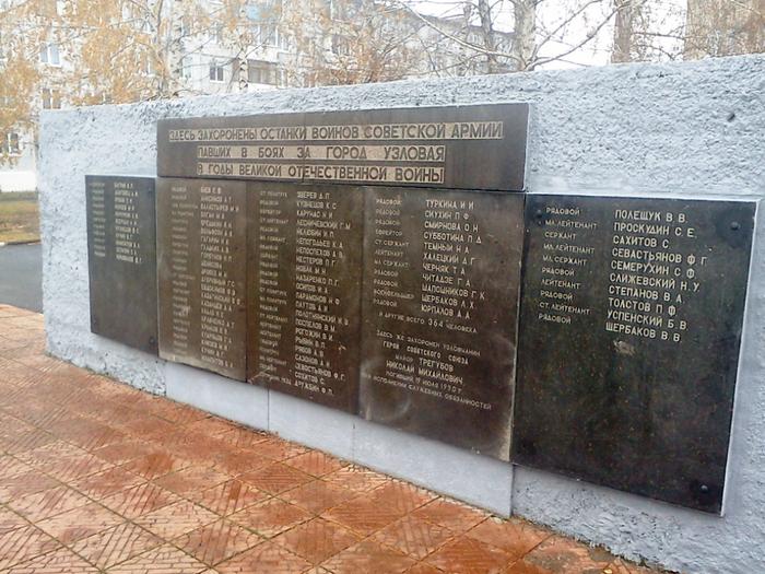 Братские могилы в тульской области