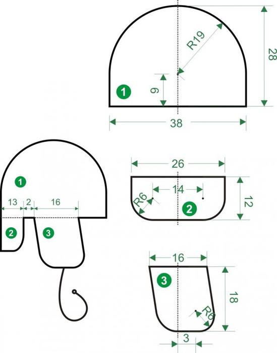 Схема вязания мужской шапки ушанки фото 378