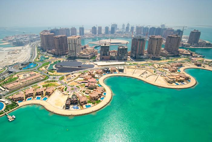 искусственный остров Жемчужина Катара 1 (700x470, 346Kb)