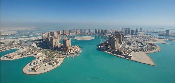 искусственный остров Жемчужина Катара 5 (700x333, 188Kb)