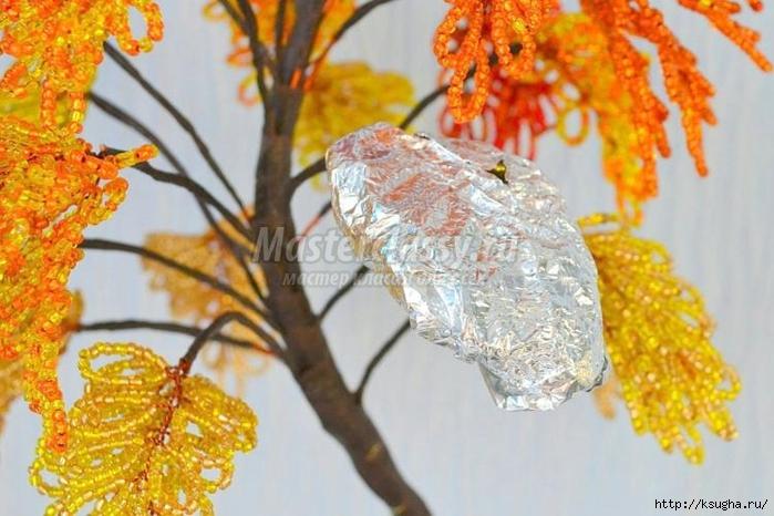 Дерево из бисера золотая осень мастер класс с пошаговым фото