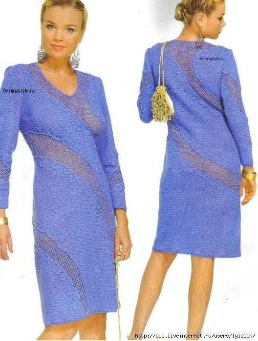 Платье тунисское вязание 24