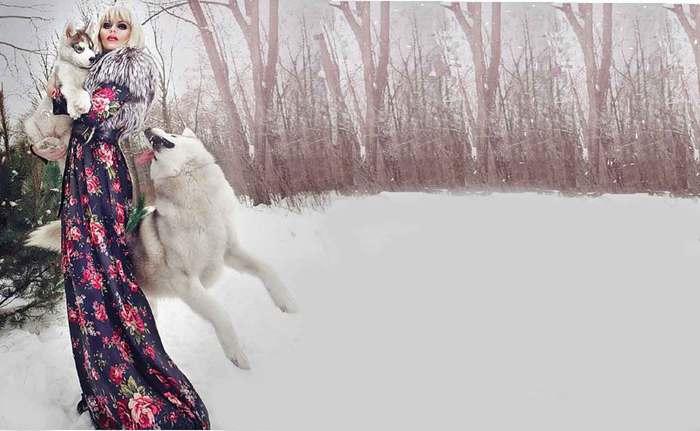 девушка и волки (700x431, 37Kb)