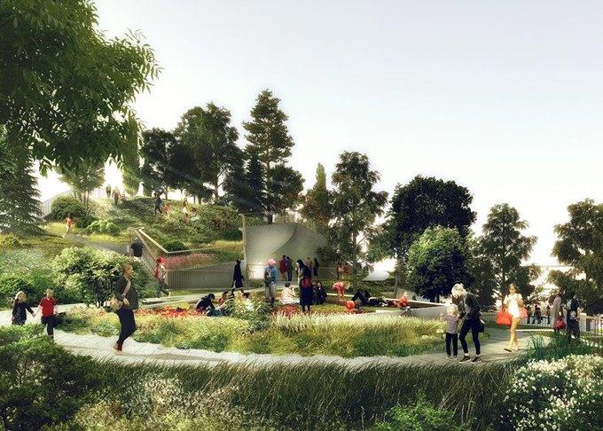 городской парк в нью-йорке пирс 55 4 (680x486, 333Kb)