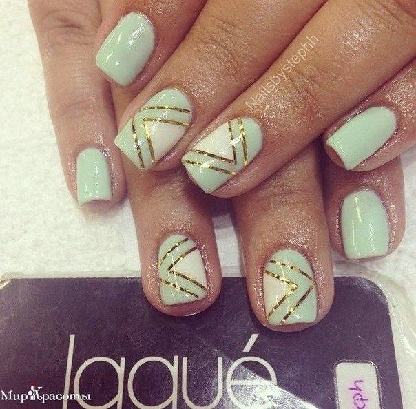 Фото дизайн ногтей лентами