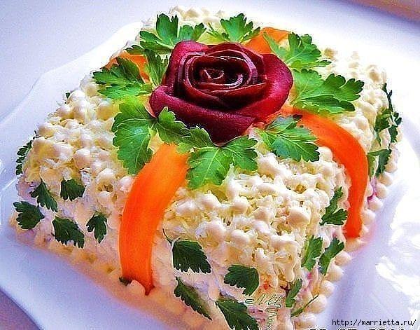 13 рецептов самых вкусных салатов к Новому году (5) (600x471, 198Kb)