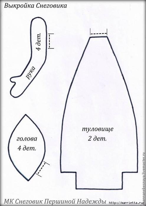 Muñeco de nieve CAFÉ.  Clase magistral (9) (495x700, 151Kb)