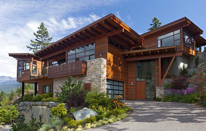 красивый загородный дом 1