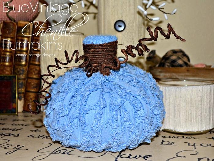 blue _ vintage _ chenille _ pumpkins _ 001 (700x526, 483Kb)
