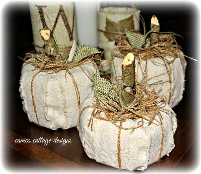 Rustic Fall Dropcloth Pumpkins _ cameo cottage designs _ 009 (700x605, 461Kb)