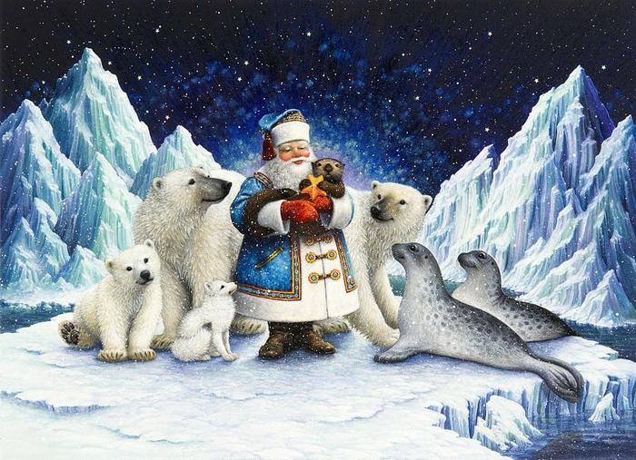 Новогодние иллюстрации от Lynn Bywaters6 (700x507, 468Kb)