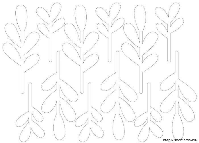 Новогодняя подвеска из бумаги. Веточка ОМЕЛЫ (1) (700x503, 123Kb)