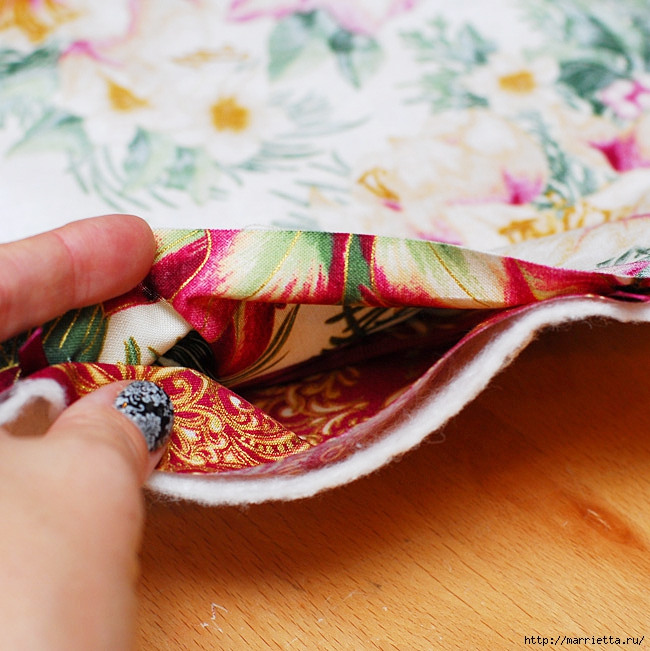 Шитье текстильной корзинки для конфет (4) (650x651, 275Kb)