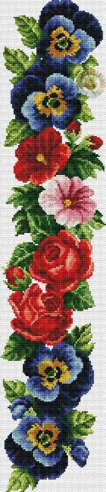 Royal flowers in Pattern (151x700, 193Kb)