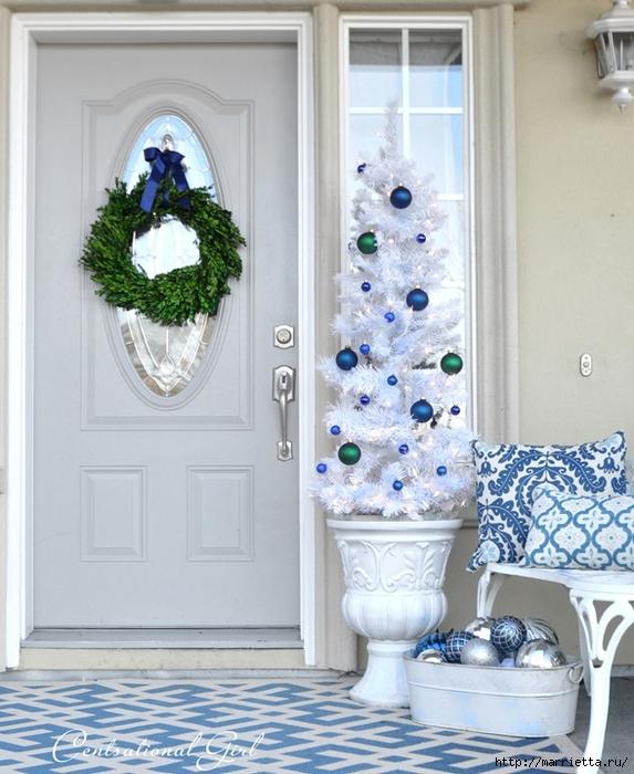 Рождественский декор в интерьере. Красивые фотографии (2) (573x700, 278Kb)
