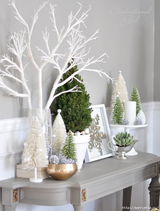 Рождественский декор в интерьере. Красивые фотографии (4) (531x700, 213Kb)