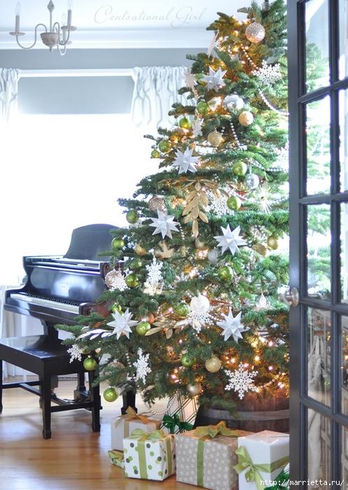 Рождественский декор в интерьере. Красивые фотографии (5) (498x700, 311Kb)
